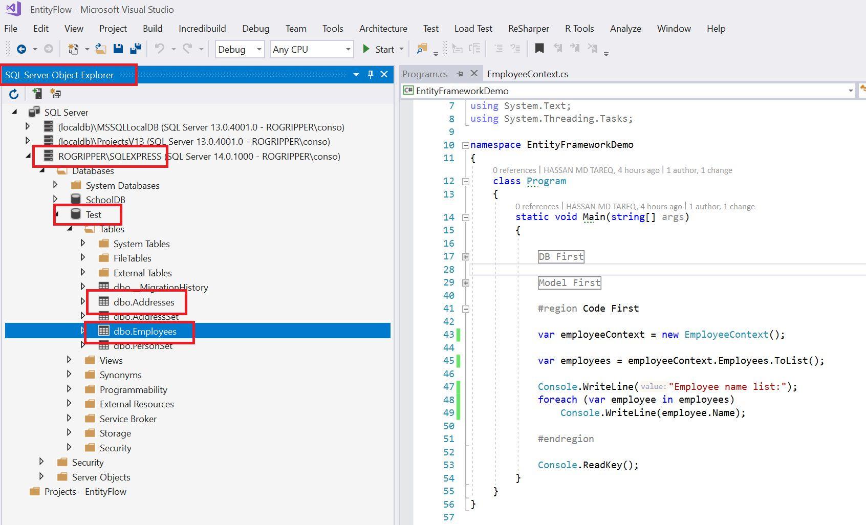 Entity Framework Code Fisrt Approach - Creating edmx from DbContext Step 20
